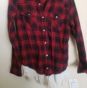 Flannel with lace